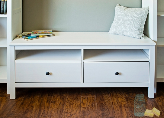 Ikea TV storage bench for bookcase bench