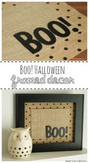 Burlap Boo sign for halloween decor