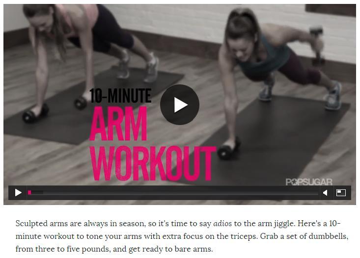 10 min arm workout