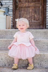 Easter Pictures happy baby pink dress