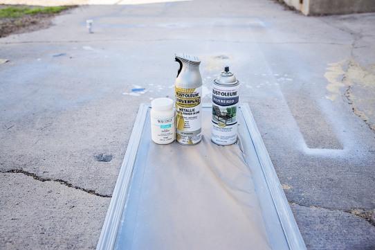 Walmart Mirror Hack Finished Mirror Spray Paint Silver Nickel
