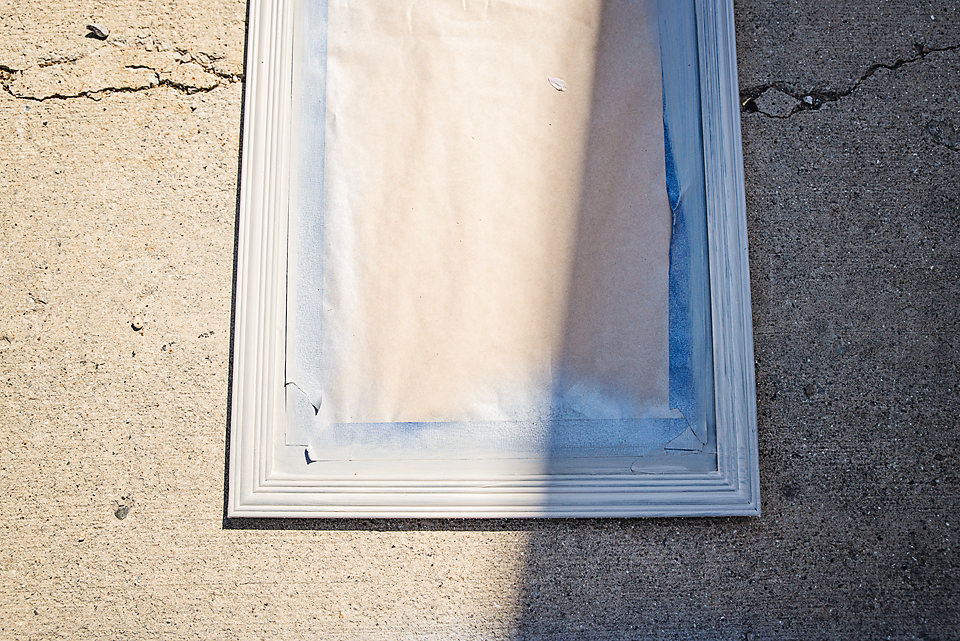 Walmart Mirror Hack Second layer of paint